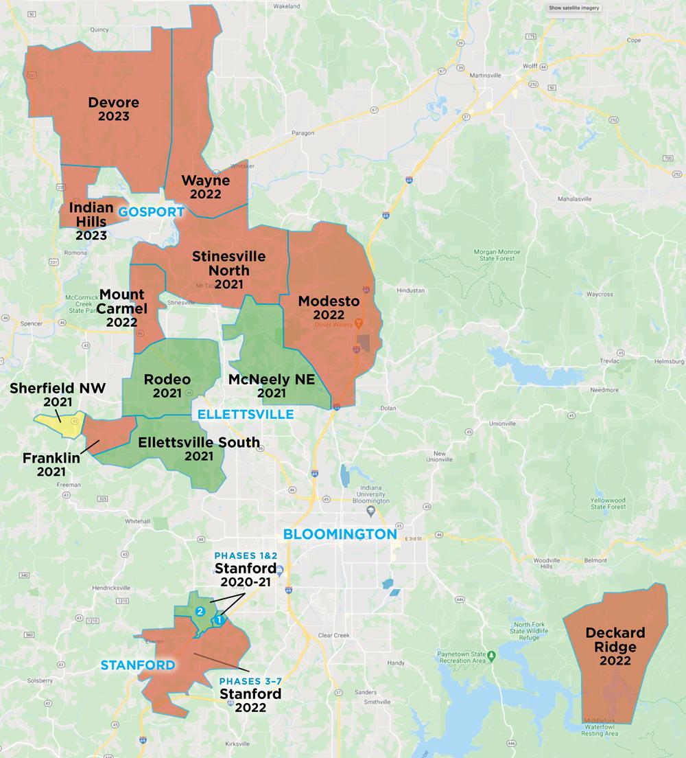 Smithville Fiber Expansion map 2021
