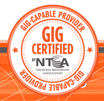 Gig-Capable Provider by NTCA–The Rural Broadband Association