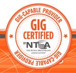 Gig-Capable Provider by NTCA–The Rural Broadband Association